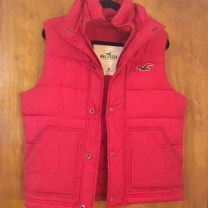 "Hollister"" Red Puffer Vest"